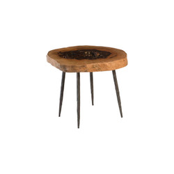Phillips Collection Side Table, Forged Legs