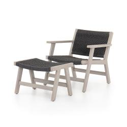Four Hands Delano Chair + Ottoman