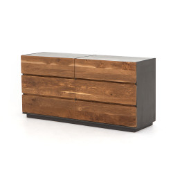 Four Hands Holland Large Dresser - Dark Smoked Oak