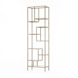 Four Hands Helena Brass Bookcase