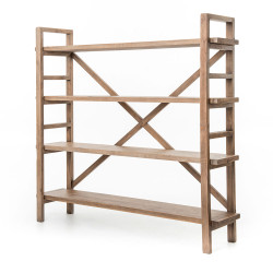 Four Hands Toscana Large Bookshelf - Sundried Wheat