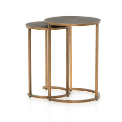 Four Hands Shagreen Nesting Table