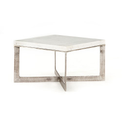 Four Hands Lennie Bunching Table - Brushed Nickel