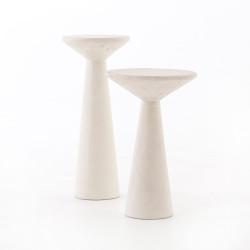 Four Hands Ravine Concrete Accent Tables, Set Of 2