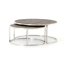 Four Hands Shagreen Nesting Coffee Table