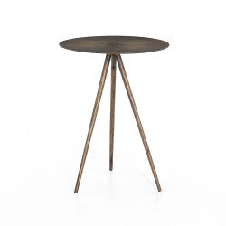 Four Hands Sunburst End Table - Aged Brass