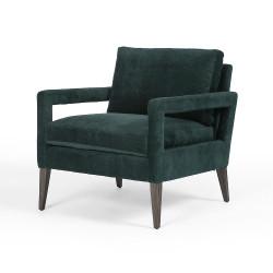 Four Hands Olson Chair - Emerald Worn Velvet