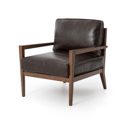 Four Hands Laurent Wood Frame Accent Chair - Dk Brn L