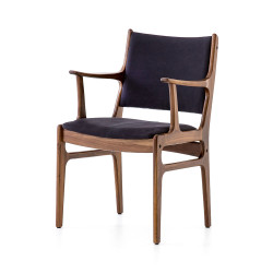 Four Hands Bina Arm Chair - Dark Blue Canvas