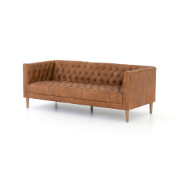 "Four Hands Williams Leather Sofa - 75"" - Nat Wash Camel"