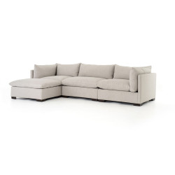 Four Hands Westwood 3 - Piece Sectional W/ Ottoman