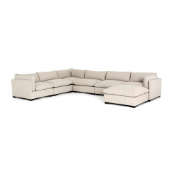 Four Hands Westwood 6 - Piece Sectional W/ Ottoman