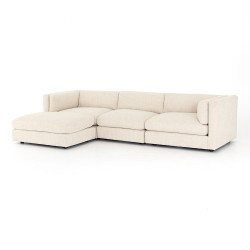Four Hands Cosette 3 Piece Sectional W/Ottoman