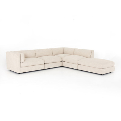 Four Hands Cosette 4 Piece Sectional W/ Ottoman