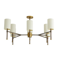 Remington Chandelier - Heritage Brass