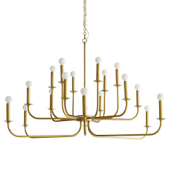 Breck Large Chandelier - Antique Brass