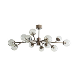 Dallas Small Chandelier - Brown Nickel