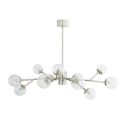 Dallas Small Chandelier - Polished Nickel