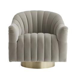 Springsteen Chair Flint Velvet Champagne Swivel