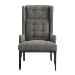 Idol Wing Chair Soot Textured Tweed Grey Ash