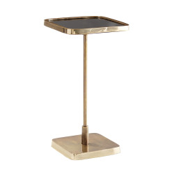 Kaela Square Accent Table - Vintage Brass/Polished Brass