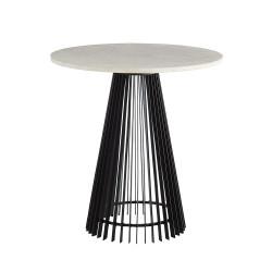 Jaime End Table - Black/White