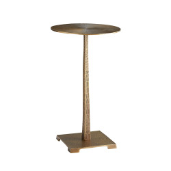 Otelia Accent Table - Vintage Brass
