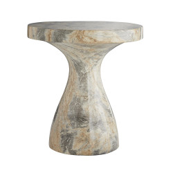 Serafina Large Accent Table - Sahara Faux Marble