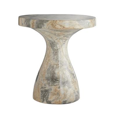 Serafina Large Accent Table - Sahara Faux Marble