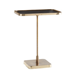 Kaela Rectangle Accent Table - Vintage Brass/Polished Brass