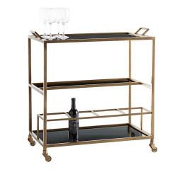 Jak Bar Cart - Antique Brass