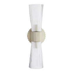 Whittier Sconce - Fluted Clear/Pale Brass