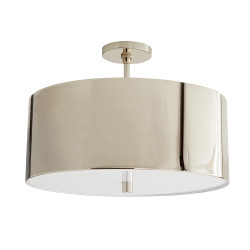Tarbell Semi-Flush - Polished Nickel