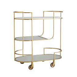 Trainor Bar Cart - Antique Brass