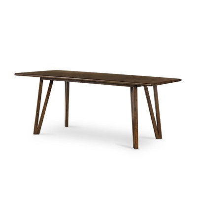 Four Hands Leah Dining Table-Rubbed Brown - Rubbed Brown - Rubbed Brown On Acacia Veneer