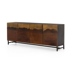 Four Hands Stormy Sideboard-Aged Brown - Distressed Ombre - Aged Brown