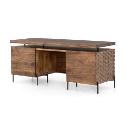 Four Hands Raffael Desk-Antique Brown - Antique Brown - Carved Antique Brown - Gunmetal