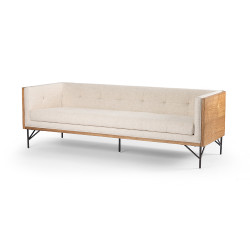 Four Hands Holden Sofa - Thames Cream - Toasted Ash - Oxidized Grey