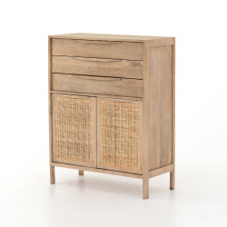 Four Hands Sydney Tall Dresser-Natural - Natural Mango - Natural Cane