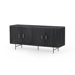 Four Hands Laverne Sideboard-Bluestone - Washed Black - Brushed Gunmetal - Bluestone
