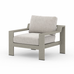 Four Hands Monterey Outdoor Chair - Stone Grey - Weathered Grey