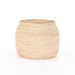 Four Hands Ansel Natural Basket-Natural Finish - Natural Lombok Weave