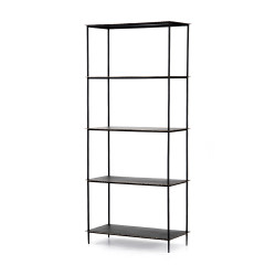 Four Hands Trula Bookshelf-Rubbed Black - Rubbed Black