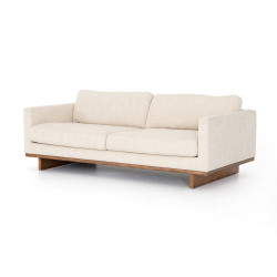 """Four Hands Everly Sofa-84"""" - Irving Taupe - Antique Cocoa"""