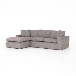 "Four Hands Plume Two-Piece Sectional 106"" - Harbor Grey"