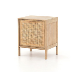 Four Hands Sydney Nightstand Left - Natural Mango - Natural Cane