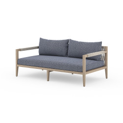 Four Hands Sherwood Outdoor Sofa, Washed Brown - Faye Navy - Washed Brown