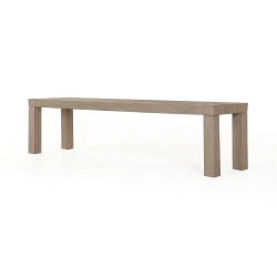 Four Hands Sonora Outdoor Dining Bench - Washed Brown
