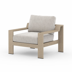 Four Hands Monterey Outdoor Chair 1 - Stone Grey - Washed Brown