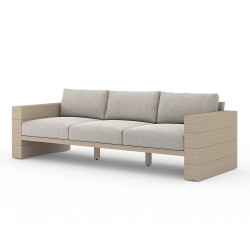Four Hands Leroy Outdoor Sofa, Washed Brown - Stone Grey - Washed Brown